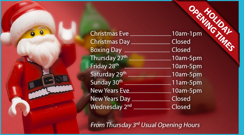 Minifigs and Bricks Lego shop York Christmas opening times 2018