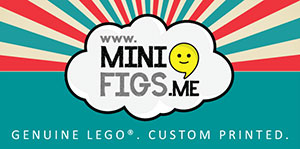 Official stockist for Minifigs.Me custom printed Lego